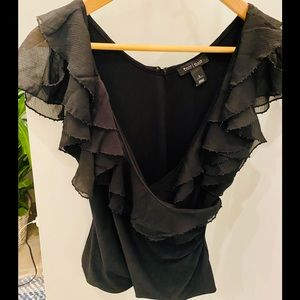 WhiteHouse/BlackMarket Ruffled Top size small